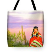 Indian Full Moon Southwest Sunset Tote Bag