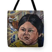 Indian Girl In The Woods Tote Bag