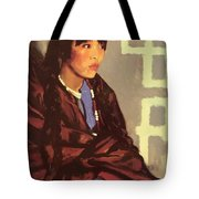 Indian Girl Of San Ildefonso 1917 Tote Bag
