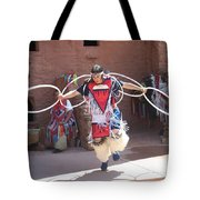 Indian Hoop Dancer Tote Bag