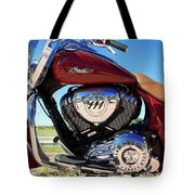 Indian Moto Blue Sky 81116 Tote Bag