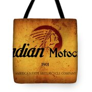 Indian Motocycle 1901 - America's First Motorcycle Company Tote Bag