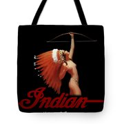 Indian Motorcycle Company Pinline Tote Bag