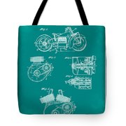 Indian Motorcycle Patent 1943 Green Tote Bag