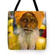 Indian Old Man Tote Bag