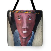 Indian On Palm 2 Tote Bag
