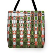 Indian Paint Pot Flower Abstract Tote Bag