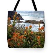 Indian Paintbrush At Point Lobos Tote Bag
