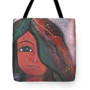 Indian Rajasthani Woman Tote Bag