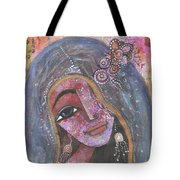 Indian Rajasthani Woman With Colorful Background  Tote Bag