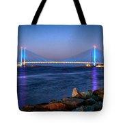 Indian River Inlet Bridge Twilight Tote Bag