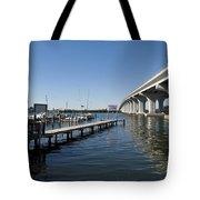 Indian River Lagoon At Vero Beach In Florida Tote Bag