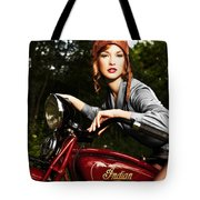Indian Scout Tote Bag