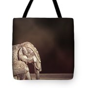 Indian Silver Elephant Tote Bag