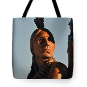 Indian Statue Tote Bag