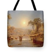 Indian Summer On The Delaware River Tote Bag