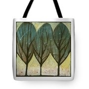 Indian Summer Snow Tote Bag