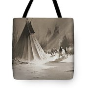 Indian Tee Pee Tote Bag