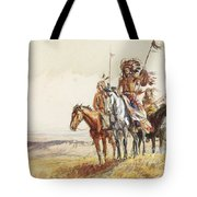 Indian War Party Tote Bag