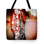 Indian Woman In Red- Vignette Tote Bag