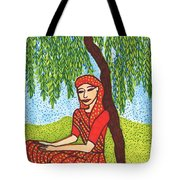 Indian Woman With Weeping Willow Tote Bag