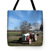 Indiana Hwy 63 South Vintage Ford Tractor Color Version Tote Bag