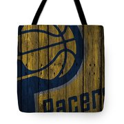 Indiana Pacers Wood Fence Tote Bag
