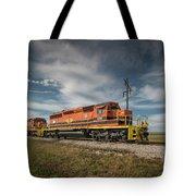 Indiana Southern Railroad Locomotives At Edwardsport Indina Tote Bag