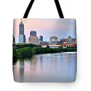 Indianapolis At Dusk Tote Bag