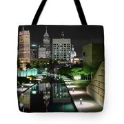 Indianapolis Canal Night View Tote Bag