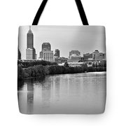 Indianapolis Charcoal Panoramic Tote Bag