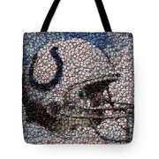 Indianapolis Colts Bottle Cap Mosaic Tote Bag
