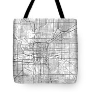 Indianapolis Indiana Usa Light Map Tote Bag
