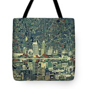 Indianapolis Skyline Abstract 3 Tote Bag