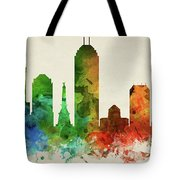Indianapolis Skyline Panorama Usinin-pa03 Tote Bag