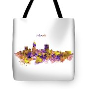 Indianapolis Skyline Silhouette Tote Bag