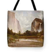Indians Fishing In Yosemite Tote Bag