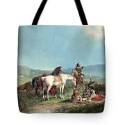 Indians Playing Cards Tote Bag