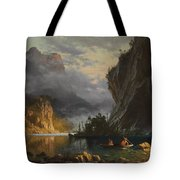 Indians Spear Fishing Tote Bag
