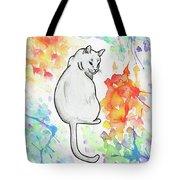 Indifferent Cat Tote Bag