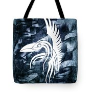 Indigo Bird Flight Contemporary Tote Bag