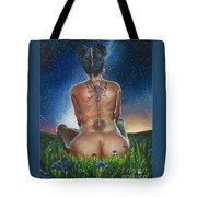 Indigo Blue Tote Bag by Baroquen Krafts