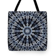 Indigo Flow Blue Kaleidoscope Tote Bag