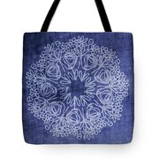 Indigo Mandala 1- Art By Linda Woods Tote Bag