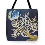 Indigo Ocean - Tan Fan Coral N Angelfish Tote Bag