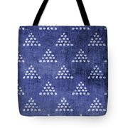 Indigo Triangles 2- Art By Linda Woods Tote Bag
