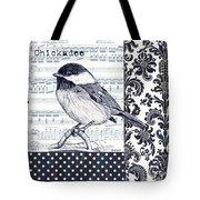 Indigo Vintage Songbird 2 Tote Bag