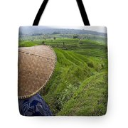 Indonesian Rice Farmer Tote Bag