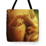 Indonesian Wood Carving Tote Bag