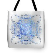 Indulgent Blue Lace Tote Bag